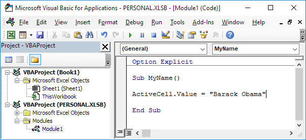 Add an Excel Macro to the Toolbar - Easy Excel VBA
