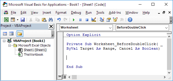 Excel VBA BeforeDoubleClick Event EASY Excel Macros – Vba Worksheet