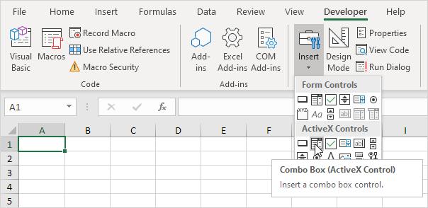 Excel VBA Combo Box - Easy Excel Macros