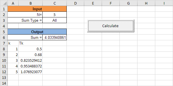 complex calculations in excel vba