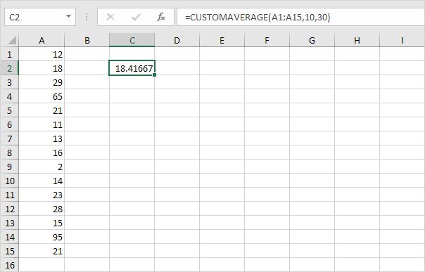Custom Average Function in Excel VBA - Easy Excel Macros