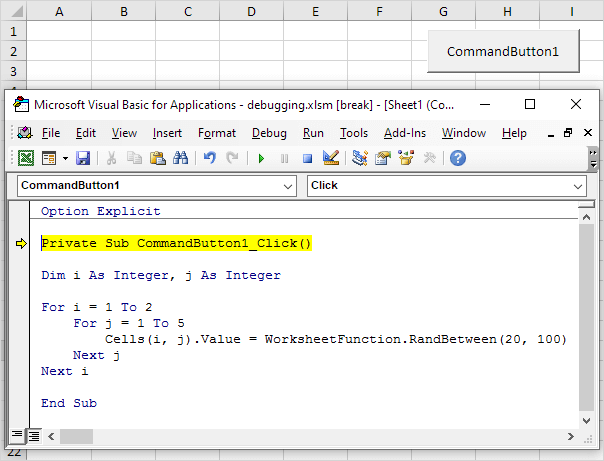 Debugging in Excel VBA - Easy Excel Macros