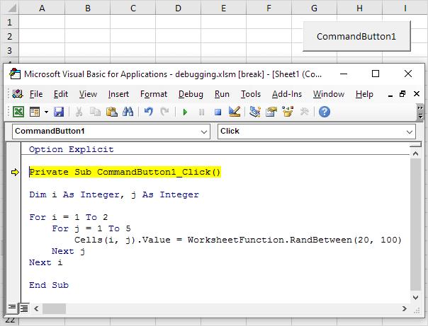 debugging in excel vba easy excel macros