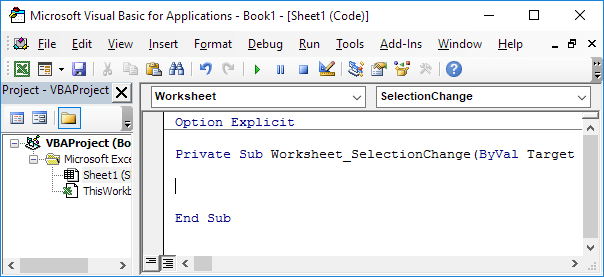 Printables Vba Active Worksheet highlight active cell in excel vba easy macros worksheet selectionchange event vba