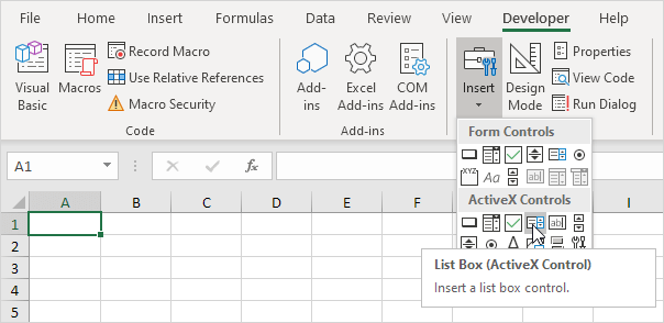 Excel Multiple Selection ListBox moreover Excel VBA ListBox ...
