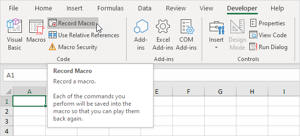 How to write macro for excel 2003
