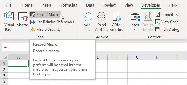 Excel Macro Recorder - EASY Excel VBA