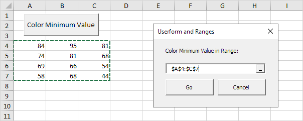 Excel Vba Userform And Ranges Easy Macros. Userform And Ranges In Excel Vba. Worksheet. Worksheet Range Text At Clickcart.co