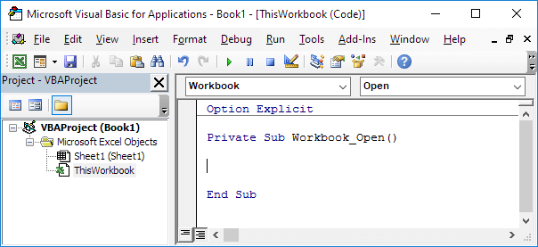 Excel vba events easy excel macros workbook open event in excel vba ibookread PDF