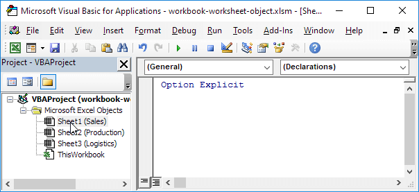 Excel vba workbook and worksheet object easy excel macros note the codename remains the same if you change the worksheet name or the order of your worksheets so this is the safest way to reference a worksheet ibookread Download
